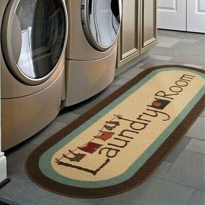 Laundry Room Rug Runner Mat Farmhouse Country Oval Bathroom Long Wash Room 20x59 2 Oval Area Rug
