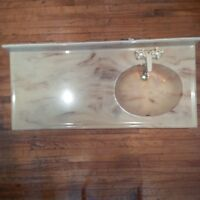 Beautiful MARBLE sink-beige and toupe