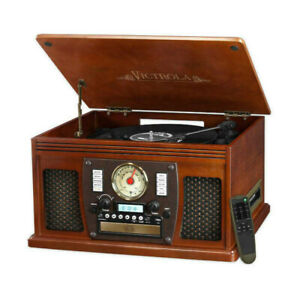 Victrola Nostalgic 8-in-1 Bluetooth Turntable Entertainment Cent