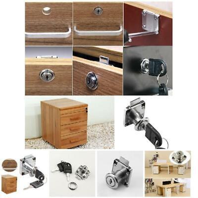 Drawer Lock With 2 Keys Zinc Alloy Furniture Door Cabinet Locks For Office Desk