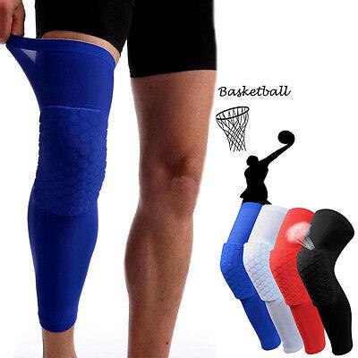 Kid Adult Basketball Leg Knee Pad Long Sleeve Protector Gear Crashproof Antislip
