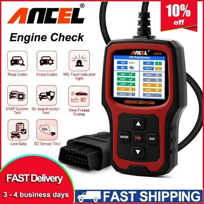 2020 NEW AD410 Universal OBD2 OBDII Auto Car Code Reader Diagnostic Scanner Tool