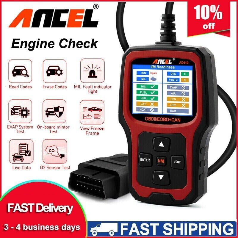 2020 NEW AD410 Universal EOBD OBDII Auto Car Code Reader Diagnostic Scanner Tool