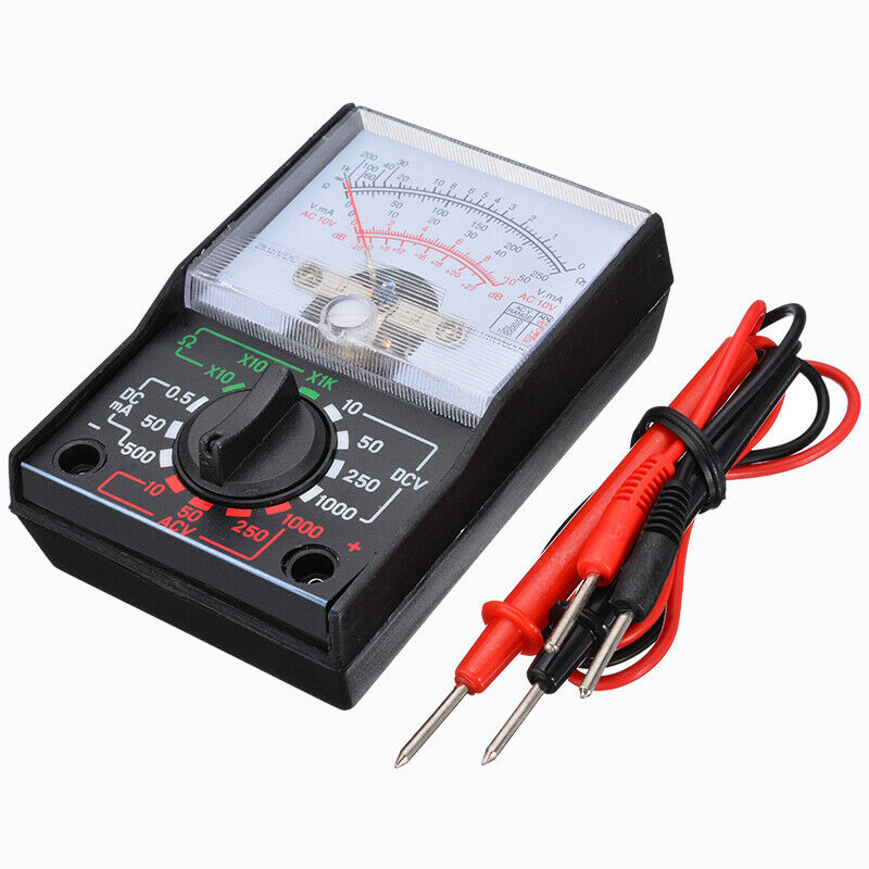 Analogue Multimeter AC DC Volts Ohm. Electrical Circuit Mult