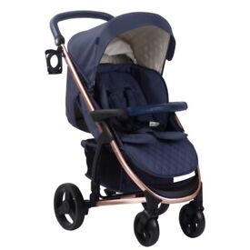 Brand New! My Babiie Navy and Rose Gold Pushchair MB200