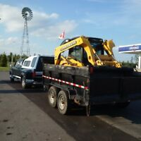 Skid steer and Dump trailer for hire
