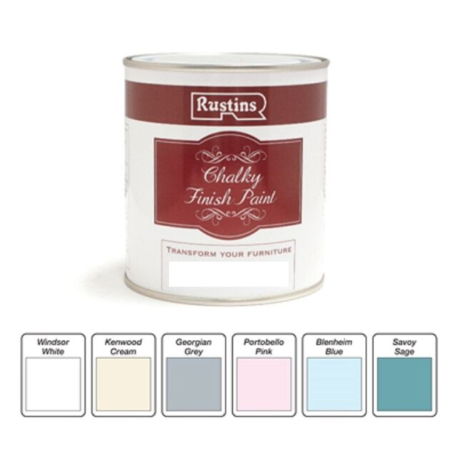 Rustins Quick Dry Chalky Finish Paint - All Colours - 250ml or 500ml