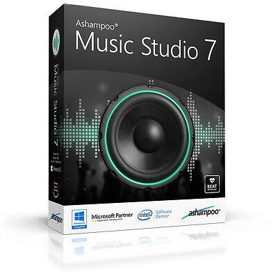 Ashampoo Music Studio 7 deutsche Vollversion lifetime Download 16,99 statt 39,99