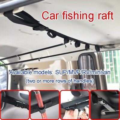 Car Truck Fishing Rod Carrier Rod Holder Belt Strap With Tie Suspenders (Rod Carrier)