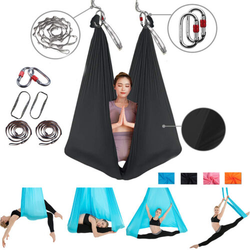 Yoga Hängematte Fitness Yoga Übungen Schaukel Swing Tuch Beharrlich Flexibilität