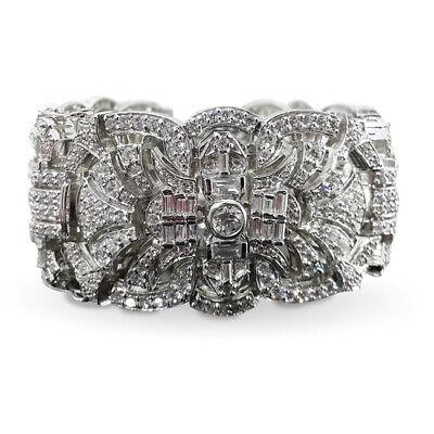 925 sterling silver bracelet cz Vintage Style Bracelet Cocktail Party -  Royale` 1