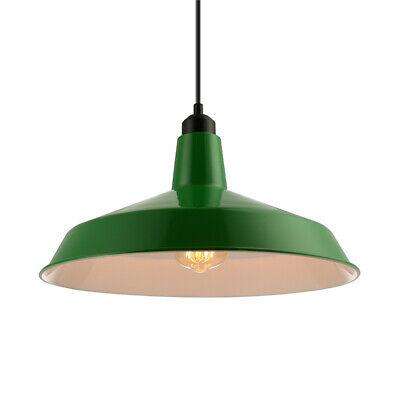 Vintage Dark Green Pendant Light Industrial Warehouse Metal Barn Ceiling (Warehouse Dark)