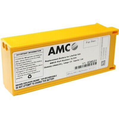 Amco Replacement Battery For Physio Control Lifepak 500 Aed - New In Box
