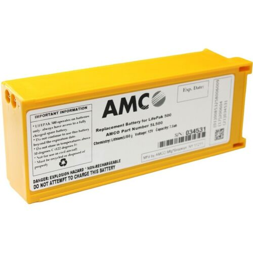AMCO Replacement Battery for Physio Control LifePak 500 AED - **NEW IN BOX**