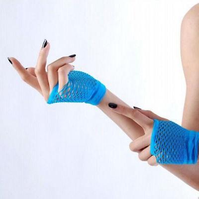 1pc Damen Sexy Fischnetz Handschuhe Fingerlose Handgelenk Kostüm Netzhandschuhe