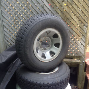 Four mounted M+S winter tires