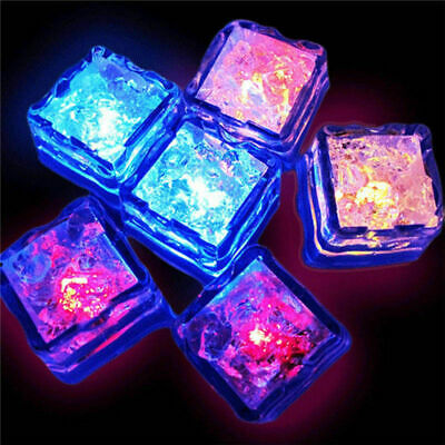 Multi Color Rainbow Flash Light Up Ice Cube Glow Ice Cube ~Fast Ship