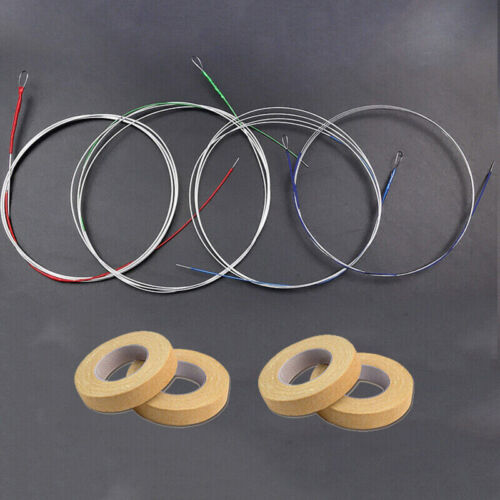1 Set Pipa Strings Asia Instrument China Pipa String Steel Core 4 Adhesive Tape
