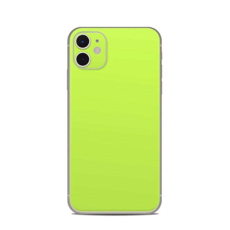 iPhone 11 Skin - Solid Lime - Sticker Decal