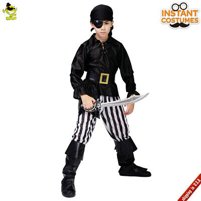 Halloween Kids Boys Pirate Party Costume Cosplay Cool Stripe Pirate Outfits ](Pirates Costumes For Boys)