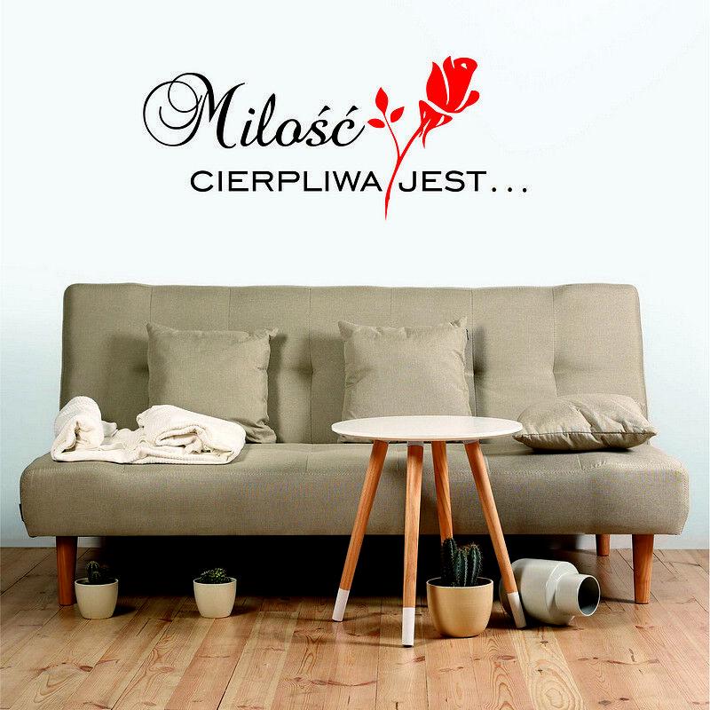 Polskie Cytaty Naklejki na Sciane Projekty Custom Wall Stickers Decor Quotes
