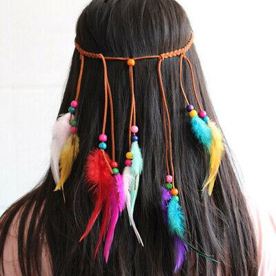 Headdress Hippy Indian Feather Headband Festival boho Hairband Hair Accessories](Festival Accessories)