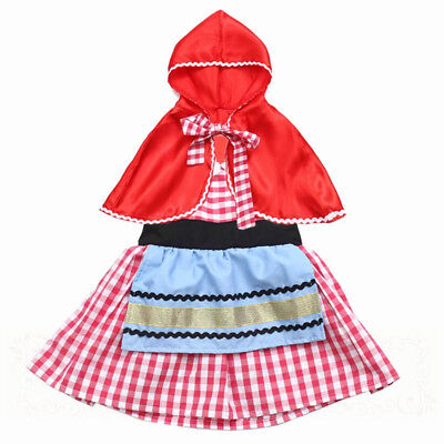 Little Red Riding Hood Dress for toddlers and girls Halloween Cosplay PD32 (Fairy Dresses For Little Girls)