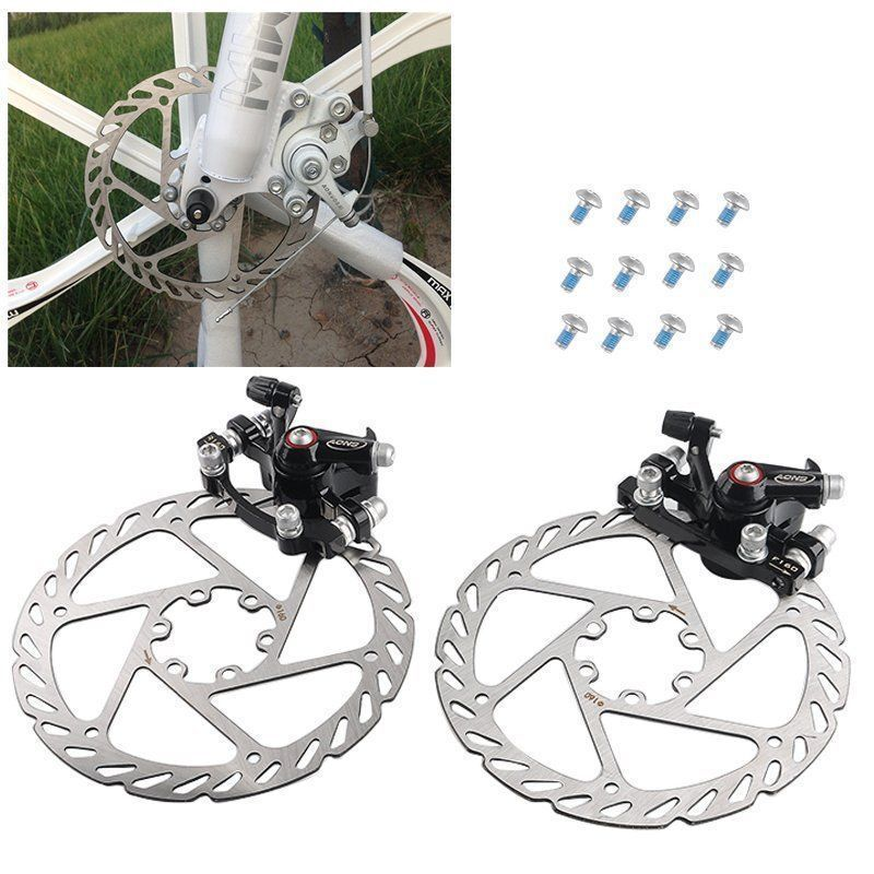 1 Pair MTB Bicycle Bike Mechanical Disc Brakes Front and Rear Calipers Set