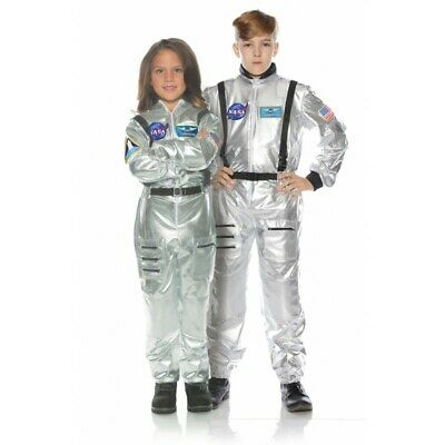 Underwraps Astronaut Flug Anzug Nasa Silber Kinder Halloween Kostüm 25725