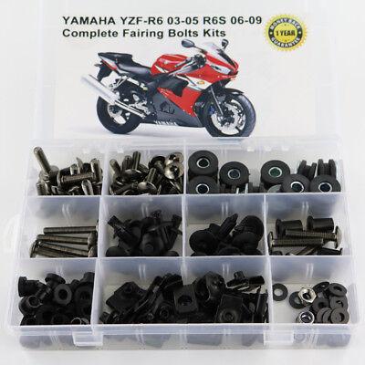 2005 Yamaha R6 Bolt - Fairing Bolt Kit Bodywork Screws For Yamaha YZF R6 2003-2005 R6S 06-09 Titanium