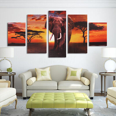 Unframed HD Canvas Prints Home Decor Wall Art Painting Picture-Elephants ()