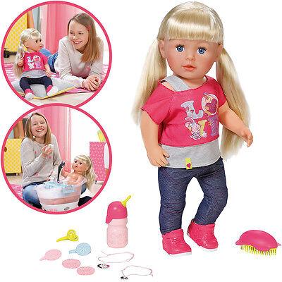 Zapf Creation Baby Born Puppe Interactive Sister mit Haaren Schwester NEU