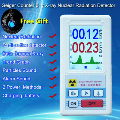 Nuclear Radiation Detector Beta Gamma X-ray Tube Geiger Counter Marble Testers