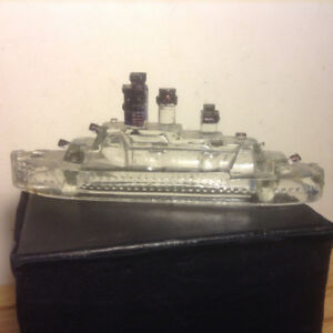 Vintage Victory Glass Co. Candy Container Ship  Boat