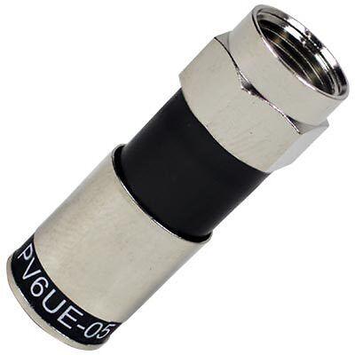 25 Pcs Ridgeloc 360 Rg6 Universal Coax Cable Compression F Connectors Pv6ue 05