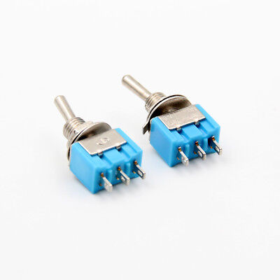 10pcs Mini Toggle Switch 6mm Mounting 3 Pins 2position On-on Ac 125v6a 250v3a