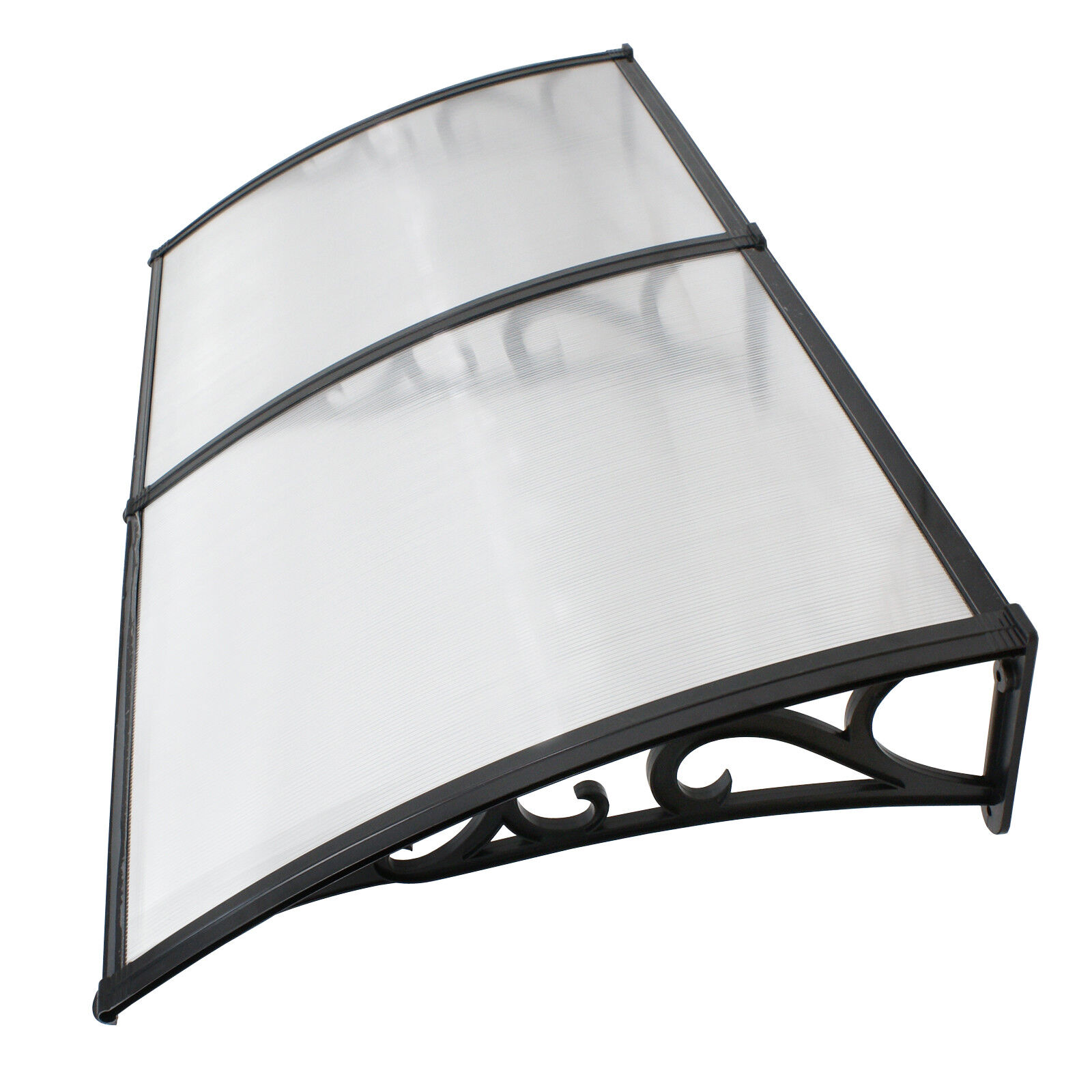 2X Door Window Outdoor Awning Canopy Patio Cover UV Rain Snow Protection 40″x80″ Awning & Canopy Parts