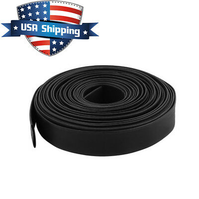 1in 25mm Diameter Heat Shrink Tubing Shrinkable Tube 98ft Black