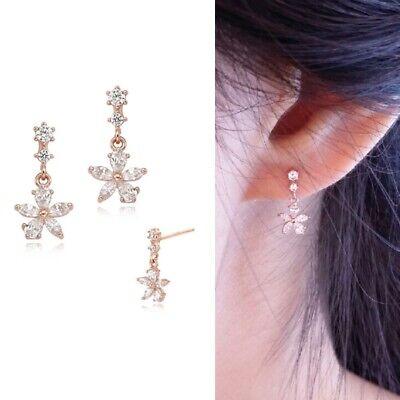 [STONE HENGE] Silver 925 Flower STone Mobil Earrings SC0968 with Case K-beauty