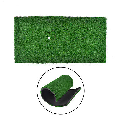 Golf Practice Mat Indoor Training Hitting Pad Practice Rubber Tee Holder Grass Golf Training Mat