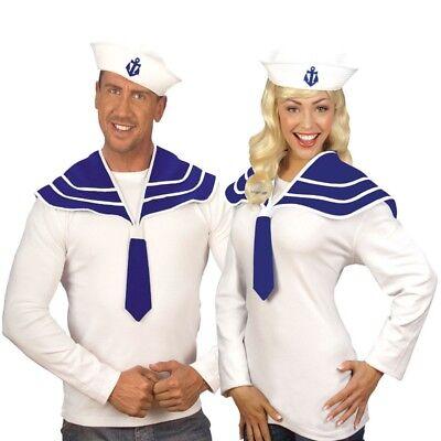Matrosen Kostüme (Last Minute Matrosen Sailor Verkleidungs-Set - Damen und Herren Kostüm NEU #5469)