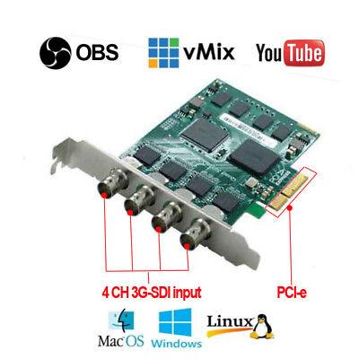 (PCI-e4s quad SDI input live streaming 1080P/60 game webcaster video capture card)
