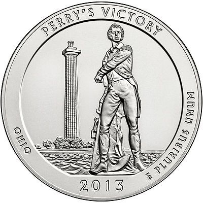 2013 5 oz America The Beautiful ATB Perry's Victory Silver Coin .999 Fine