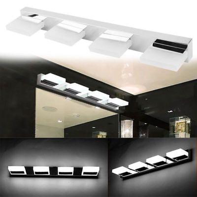 2 Light Wall Vanity (2-4 Lights Modern Bathroom Toilet Vanity Wall Makeup Light Mirror Front LED)