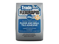 Trade Flexi Rapid Flexible, Rapid Setting Floor & Wall Tile Adhesive 20kg