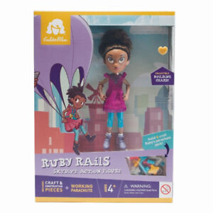 GoldieBlox Ruby Rails Skydive Action Figure. Brand New