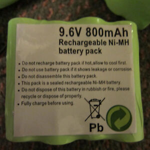 9.6V 800mAh rechargeable Ni-Mh battery pack Kitchener / Waterloo Kitchener Area image 3