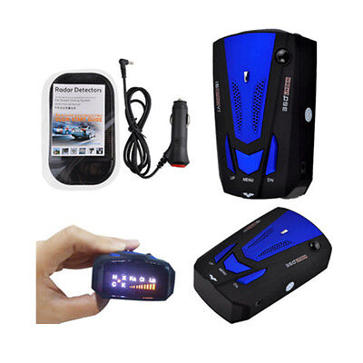 V7 DC12V 16 Band 360 Car Anti-Police GPS Camera Laser Radar Detector Voice Alert