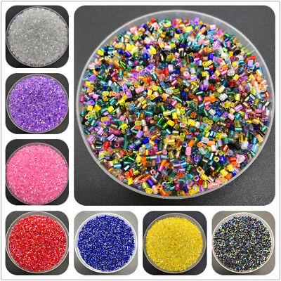 800pcs 2mm Seed Beads Czech Cylindrical Glass Tube Bugle BeadsDIY Jewelry Making Glass Bugle Beads