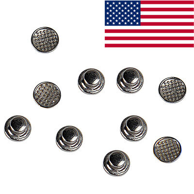 10pcpack Dental Orthodontic Lingual Buttons Bondable Round Mesh Base Azdent Top